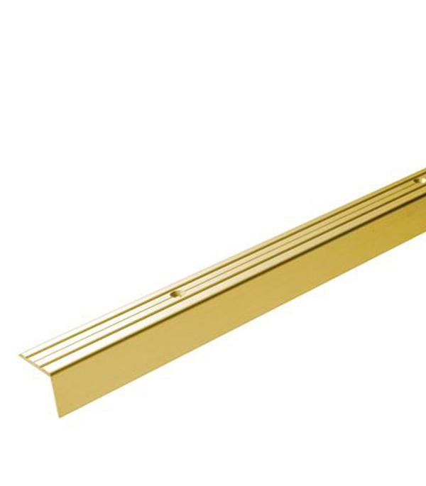 Порог Д3 для кромок ступеней 24х20х1800 мм золото