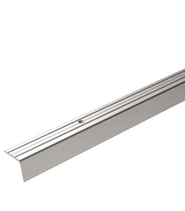 Порог Д3 для кромок ступеней 24х20х1800 мм серебро