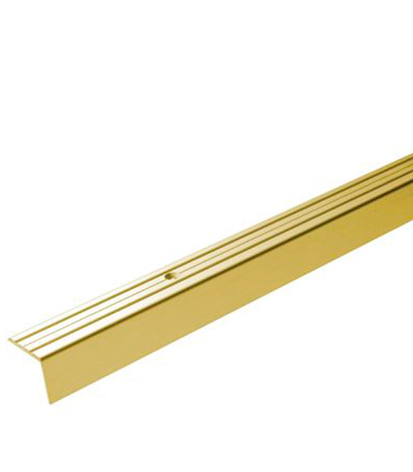 Порог Д3 для кромок ступеней 24х20х900 мм золото