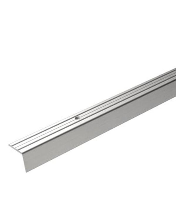 Порог Д3 для кромок ступеней 24х20х900 мм серебро