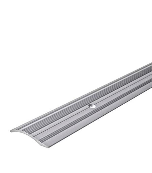 Порог С4 разноуровневый 39,4х1800 мм перепад до 10 мм серебро