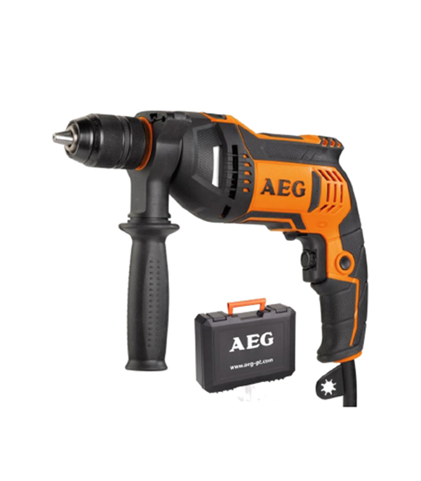 Дрель ударная SBE 750 RE (БЗП) 750 Вт AEG электрорубанок aeg pl 750