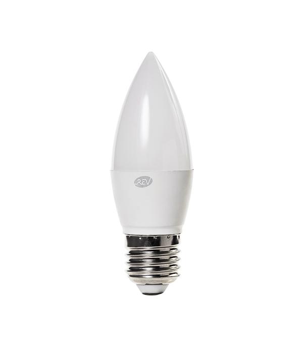 Лампа светодиодная E27 5W C37 4000K, дневной свет, REV светодиодная лампа no name 59 smd e27 230v 6 5w
