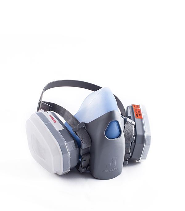 Респиратор с двойными фильтрами FFP3 защитная маска от тонкой пыли с вентилем kwb ffp 3m 3734 00