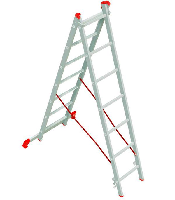 Лестница 2-х секционная 2х7 Новая высота Эконом