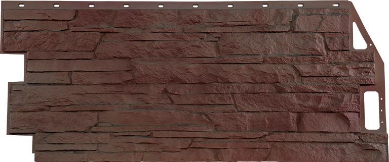 Фасадная (цокольная) панель FineBer 459х1094мм Скала  желто-коричневая
