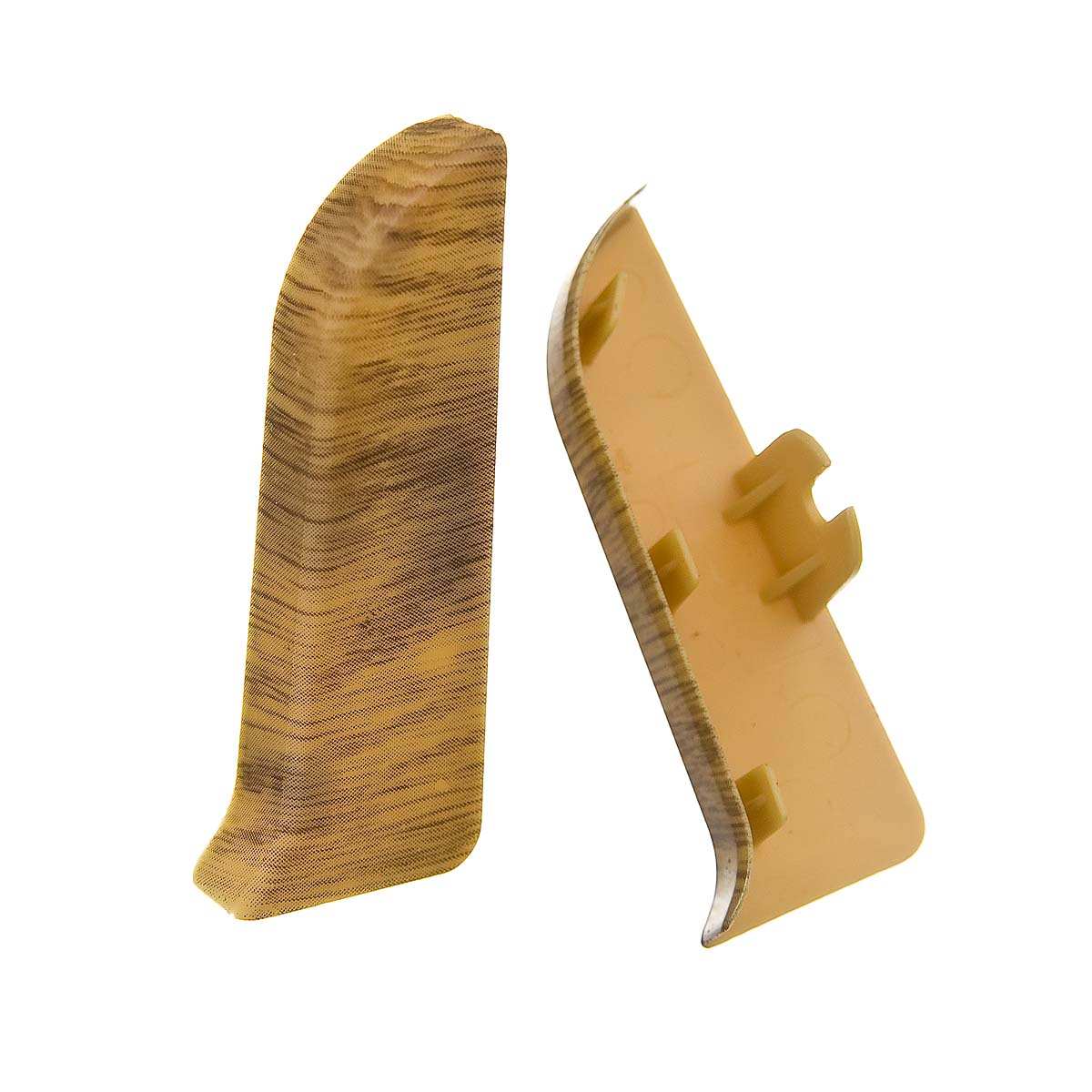 Заглушки торцевые (левая+правая) к плинтусу 68 мм дуб арденский Nexus