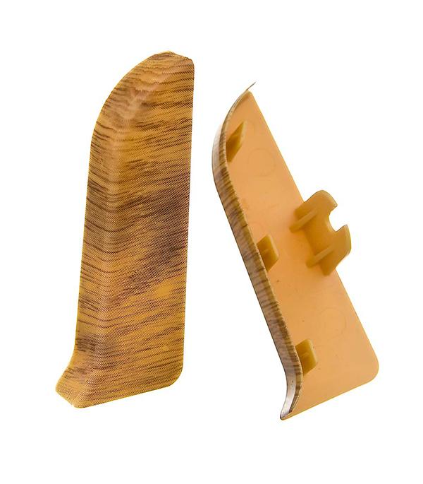 Заглушки торцевые (левая+правая) Nexus к плинтусу 68 мм дуб арденский