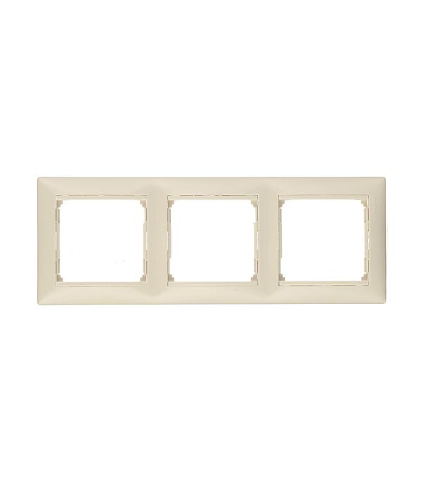 Рамка трехместная Legrand Valena слоновая кость ключ блокировки для розеток legrand 50299