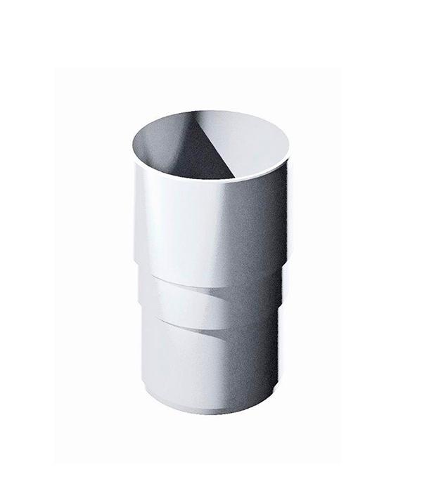 Муфта водосточной трубы пластиковая d82  мм белая Технониколь