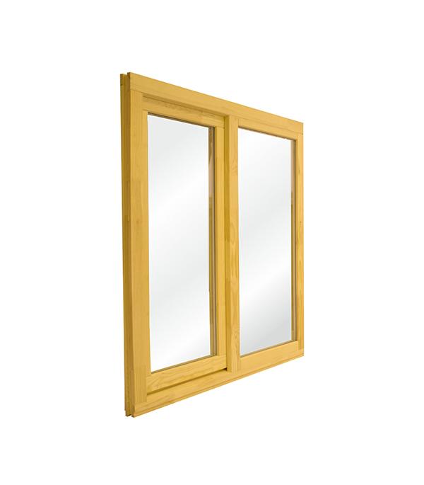 Окно деревянное террасное 1000х1000 мм 2 створки