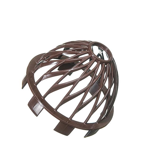 Решетка воронки Vinyl-On защитная коричневая (кофе) желоб водосточный пвх murol 130мм коричневый 3м