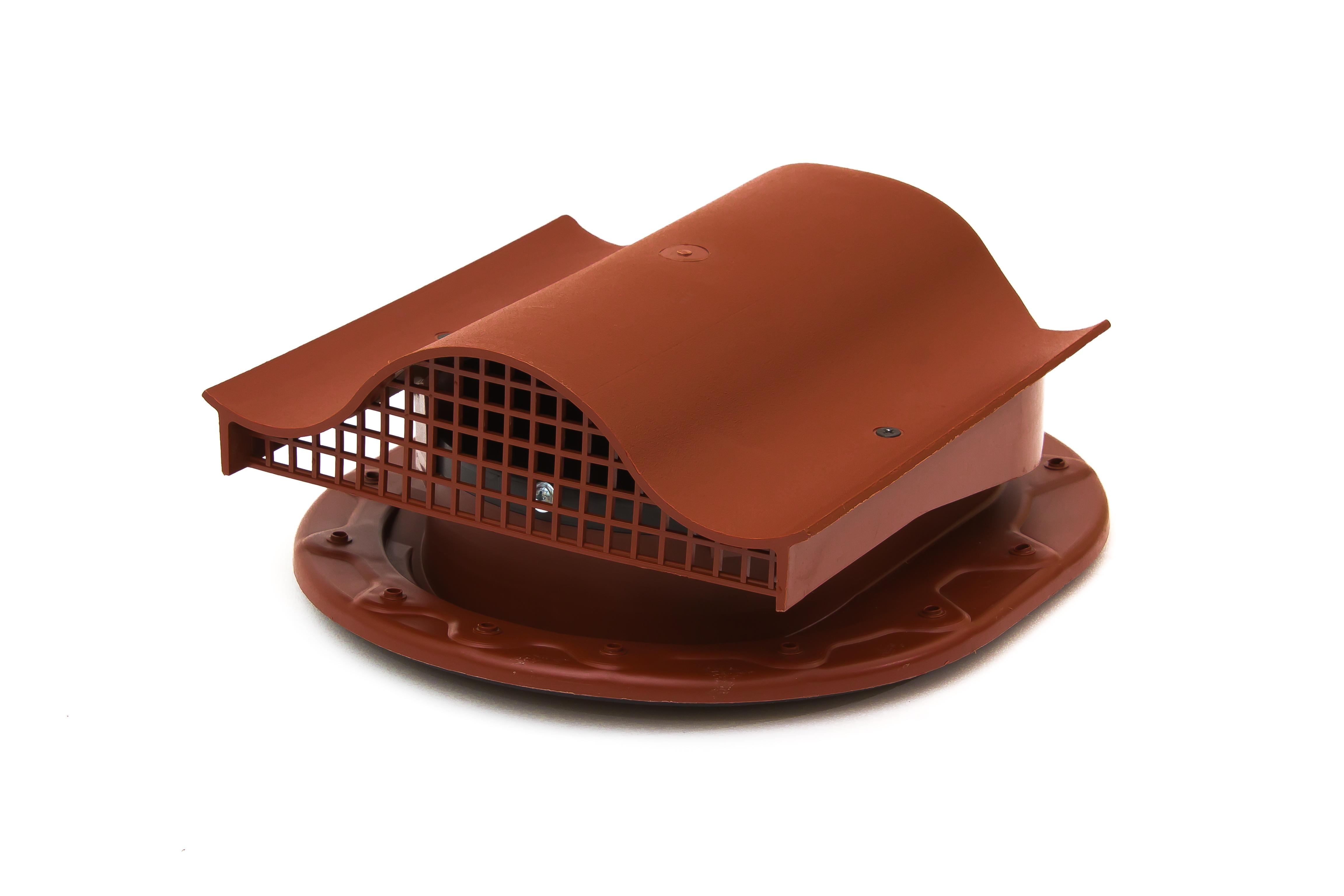 Аэратор Поливент-КТВ-вентиль для готовой кровли из битумной черепицы красный