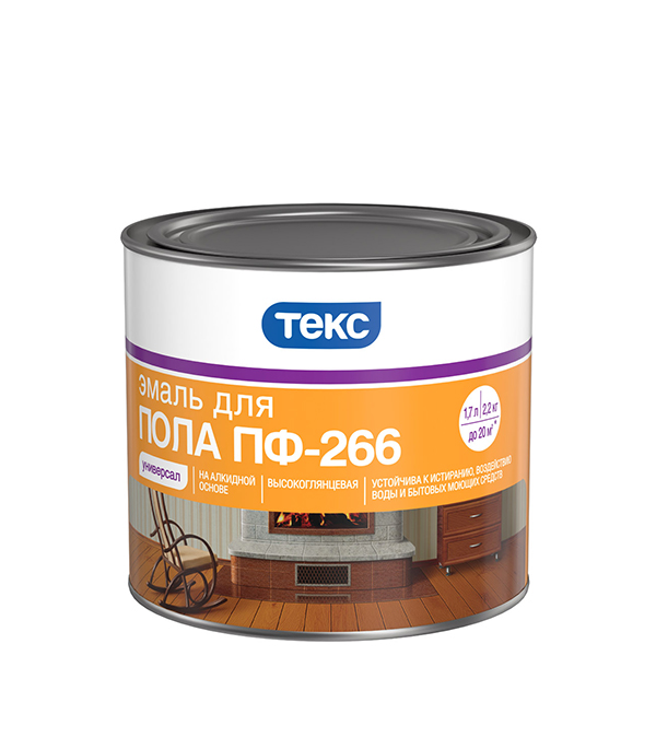 Эмаль ПФ-266 Текс Универсал красно-коричневая 2.2 кг эмаль лакра пф 266 д пола глянц красно кор 2кг