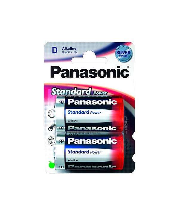 Батарейка D (LR20), Panasonic, 2 шт