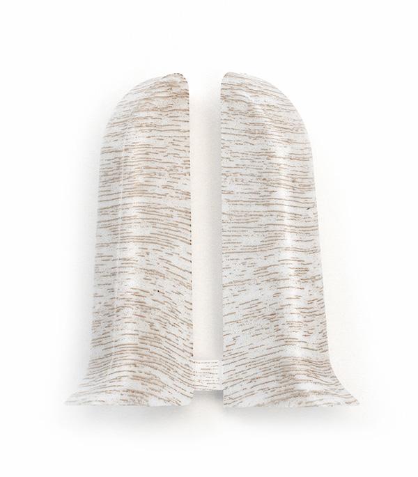 Заглушки торцевые (левая+правая) Ясень светлый 55 мм