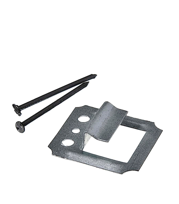 Крепеж (кляймер) №5 с гвоздями для вагонки и имитатора бруса (100 шт)