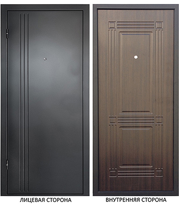 Дверь металлическая ДК Лайн  960x2050 мм левая, без цилиндра и ручки