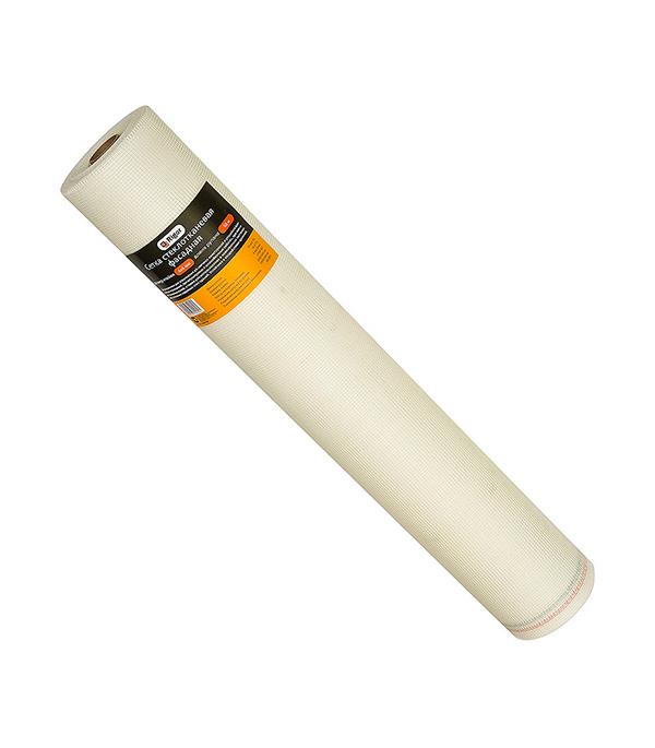 Сетка стеклотканевая фасадная Rigor ячейка 4х4 мм, рулон 1х50 м Профи