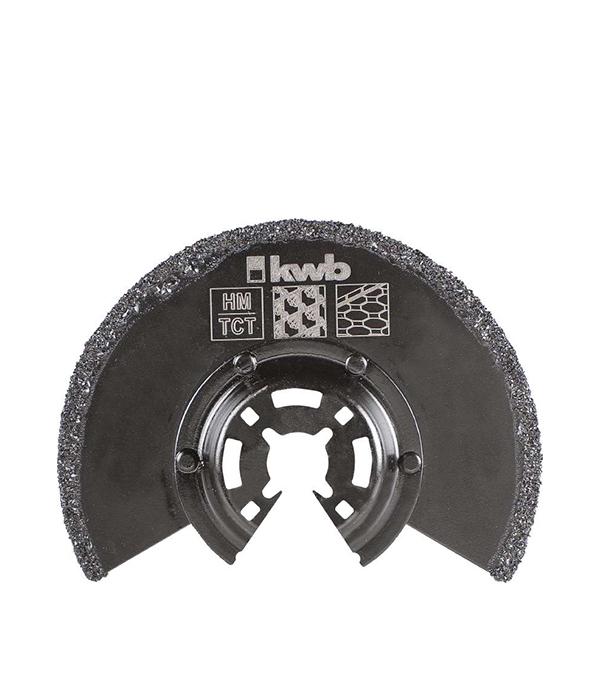 Пильное абразивное полотно KWB Стандарт 87 мм для МФУ  шлифпластина треугольная для мфу kwb стандарт