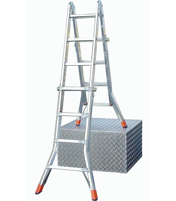 Лестница шарнирная телескопическая 4х4 Krause Профи