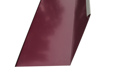 Ендова внутренняя для металлочерепицы  2 м красное вино RAL 3005
