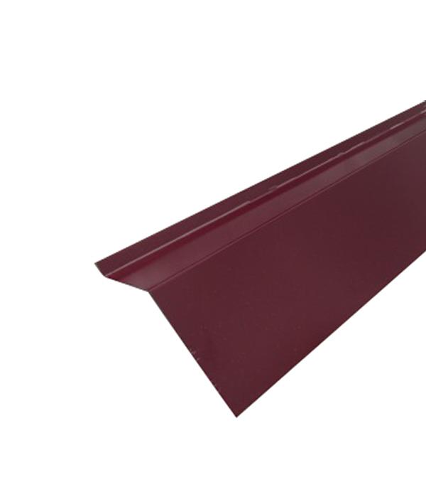 Планка карнизная для металлочерепицы 2 м красное вино RAL 3005
