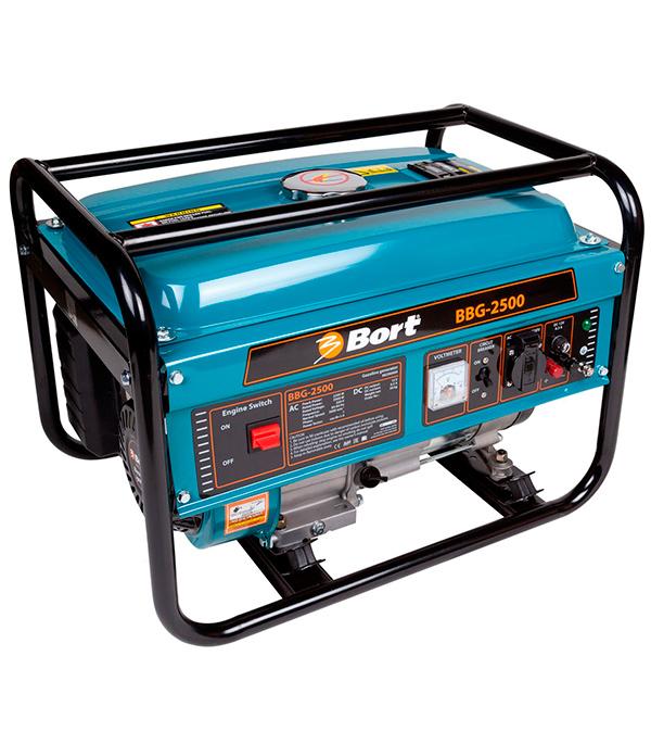 ГенераторбензиновыйBortBBG-25002.2кВт генератор бензиновый bort bbg 6500