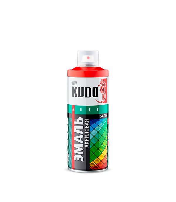 цены Эмаль акриловая аэрозольная Kudo satin Ral 9005 черная 520 мл
