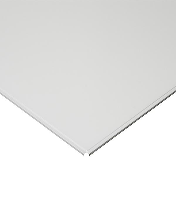 Плита к подвесному потолку кассетная  Албес (кромка Line) 600х600 мм алюминевая белая матовая Эконом