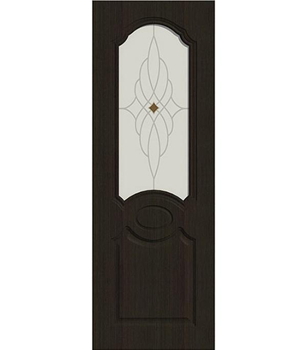 Дверное полотно ДПО экошпон Афина  Венге мелинга  8М 700х2000 мм без притвора со стеклом