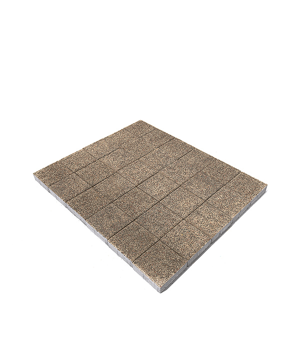 Плитка тротуарная Лувр Гранит 200х200х60 мм соль-перец