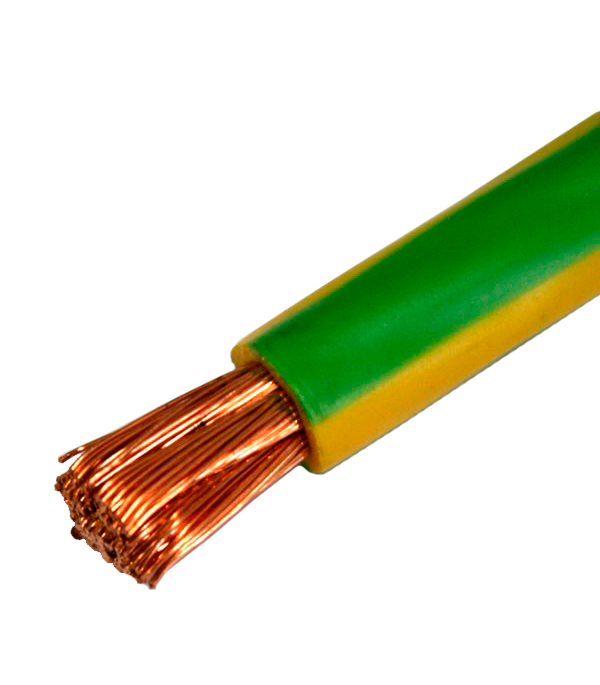 Провод ПВ3 (ПуГВ) 1х16 желто-зелёный