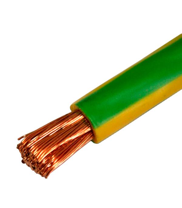 Провод ПВ3 (ПуГВ) 1х16 желто-зелёный (100 м)