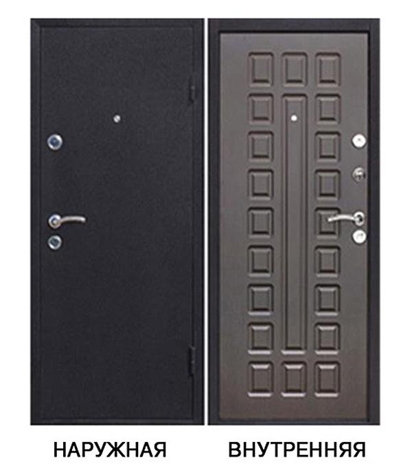 Дверь металлическая   Йошкар 960x2050 мм правая