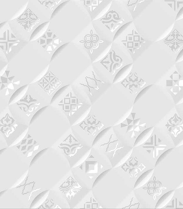 Плитка декор 250Х400х8 мм Релакс аура белый 490401