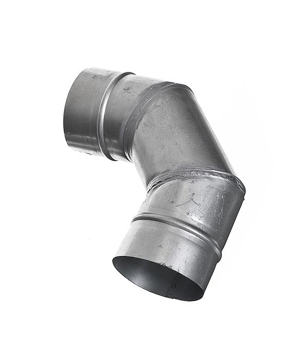 Отвод для круглых воздуховодов оцинкованный d100 мм на 90° тройник для круглых воздуховодов оцинкованный d125 мм 90°