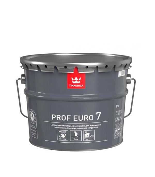 Краска в/д стойкая к мытью PROF EURO 7 основа A мат 9 л цена и фото
