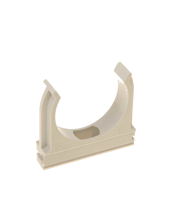 Крепеж-клипса для труб 50 мм серая (20 шт.)