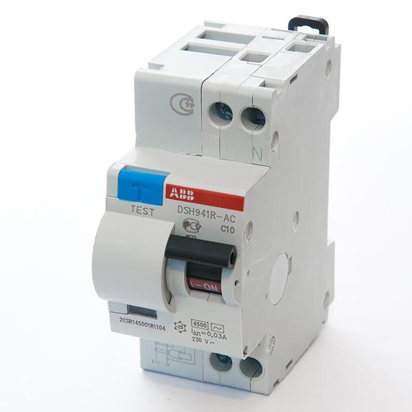 Автомат дифференциальный 1P+N, 10А, тип C, 30мА, 4.5kA, ABB, DSH941R