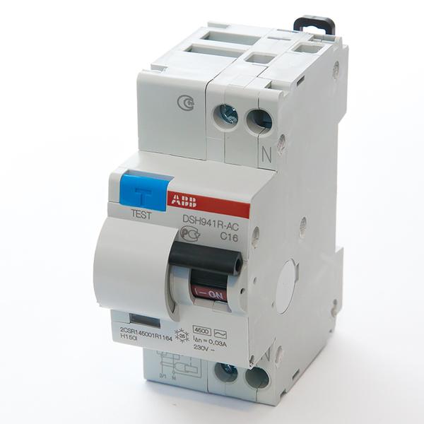 Автомат дифференциальный 1P+N, 16А, тип C, 30мА, 4.5kA, ABB, DSH941R