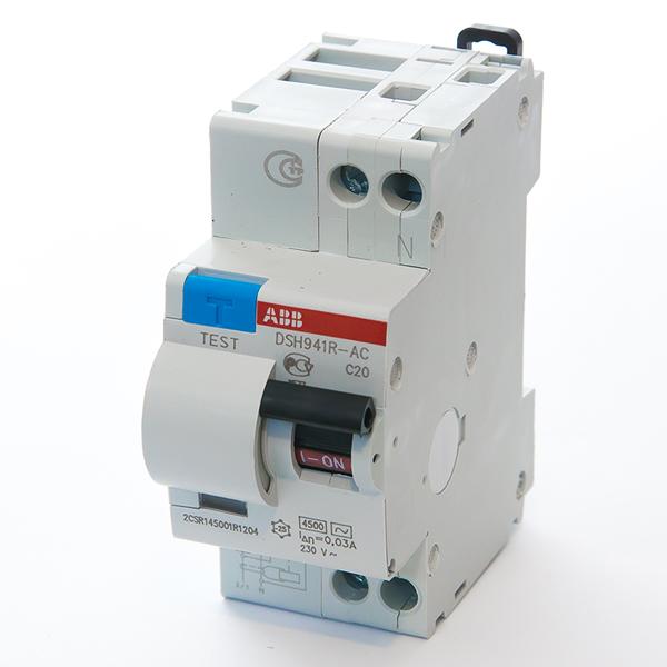 Автомат дифференциальный 1P+N, 20А, тип C, 30мА, 4.5kA, ABB, DSH941R