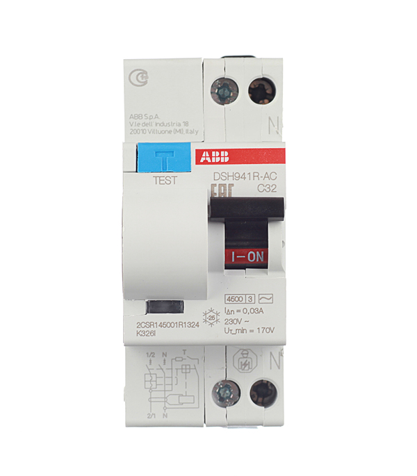 Дифференциальный автомат 1P+N 32А тип C 30 мА 4.5 kA ABB DSH941R дифференциальный автомат 1p n 25а тип c 30 ма 4 5 ka abb dsh941r
