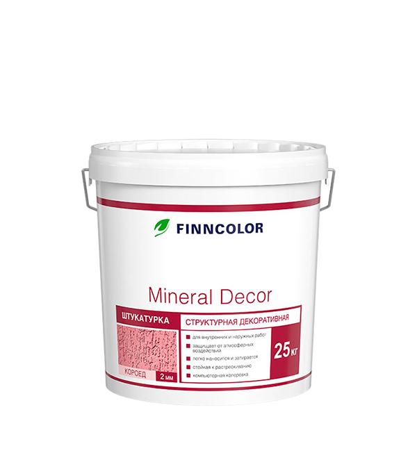 Штукатурка структурная  Mineral Decor короед фракция 2мм 25кг штукатурка декор aura putz decor 8кг короед 3 0 мм