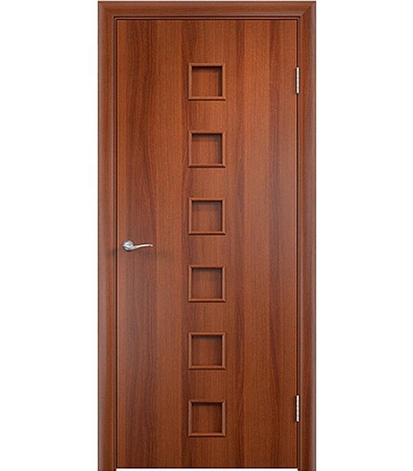 Дверное полотно ламинированное Верда С-9 Итальянский орех 600х2000 мм, глухое, без притвора