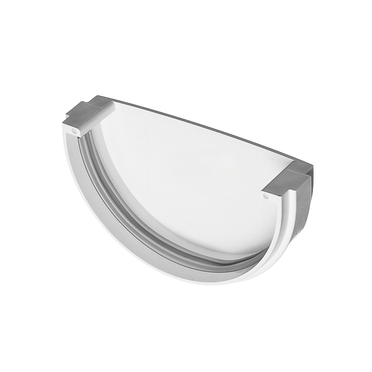 Заглушка желоба пластиковая универсальная белая VINYL-ON