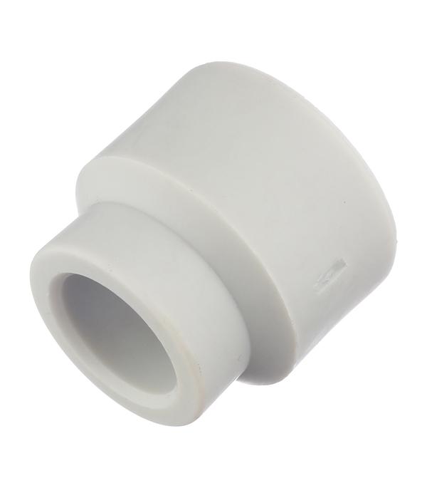 Муфта полипропиленовая переходная 25х20 мм FV-PLAST серая муфта полипропилен 25