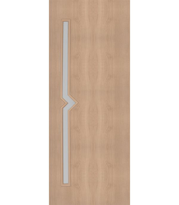Дверное полотно с 3D покрытием Вега Дуб Глостер 600х2000 мм, со стеклом