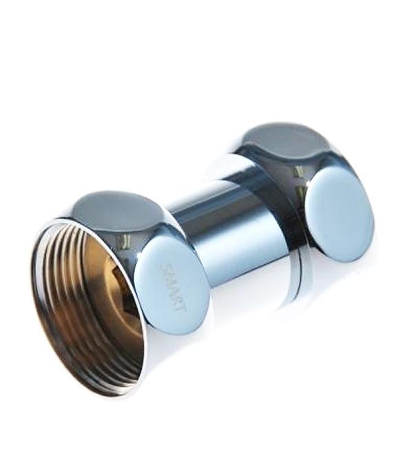 Муфта для полотенцесушителя прямая с накидной гайкой 1