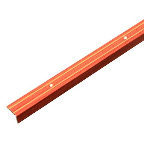 Порог Д3 для кромок ступеней 24х18х900 мм вишня